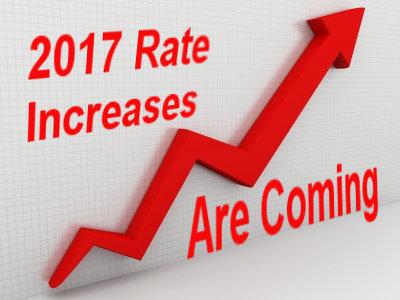 health insurance rates increasing for 2017 in California