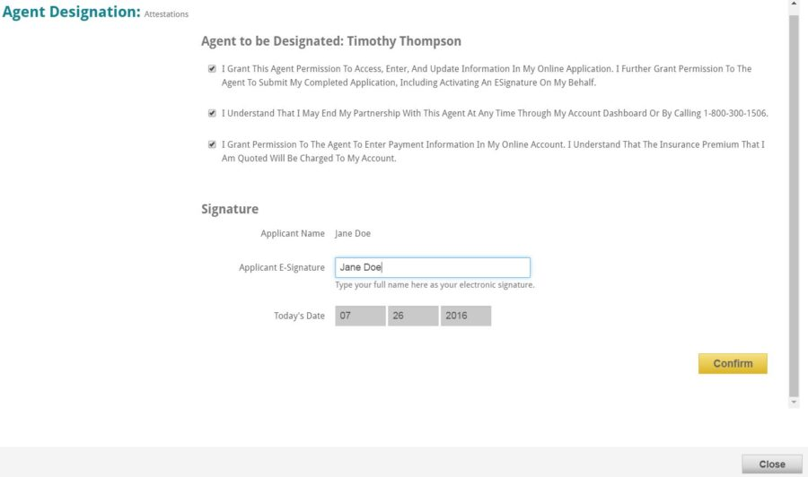 Find an Agent Overlap panel - Search Results - Broker Bio - Agent Designation entries